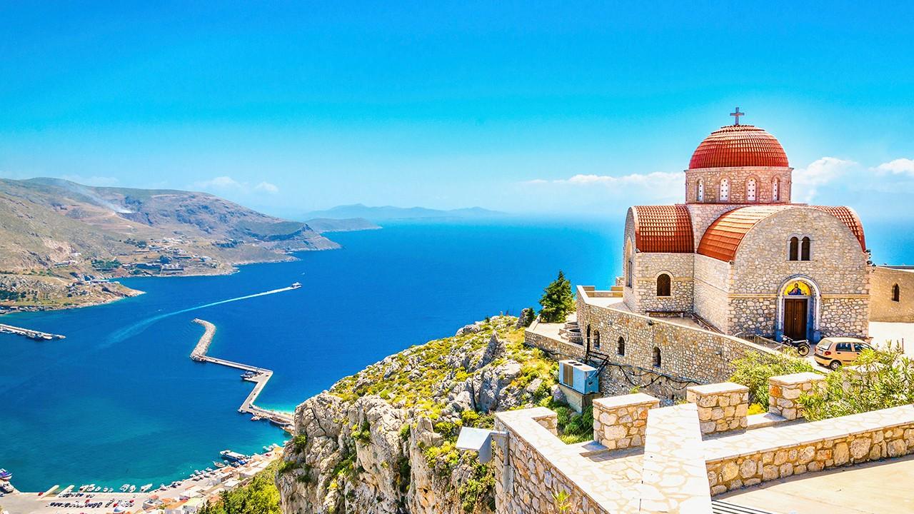 Griechische Inseln von der Insel Kos
