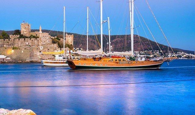 Blaue Reise-Routen in der Türkei