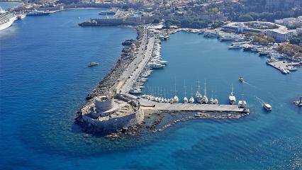 Griechische Inseln von Rhodes Island